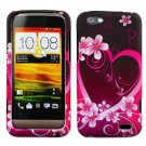 For HTC One V Cover Hard Phone Case Love + Screen Protector 2-in-1