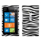 For Nokia Lumia 900 Hard Case Zebra Phone Cover +Screen 2-in-1