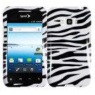 For Sprint LG Optimus Elite Cover Hard Phone Case Zebra +Screen