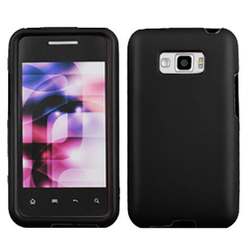 Black Phone Case For Sprint LG Optimus Elite Hard Cover