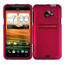 For HTC Evo 4G LTE Cover Hard Phone Case Rose Pink + Screen Protector 2-in-1