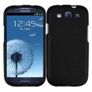 For Samsung Galaxy S III Cover Hard Phone Case Black + Screen Protector 2-in-1