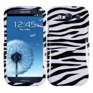 For Samsung Galaxy S III Car Charger + Cover Hard Case Zebra +Screen Protector