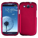 For Samsung Galaxy S III Car Charger + Cover Hard Case Rose Pink +Screen Protector