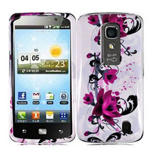 Phone Case For LG Optimus LTE Hard Cover W-Flower ( Nitro HD P935 / P930 )