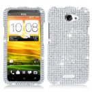 For HTC One X Cover Hard Phone Case Crystal Clear Bling Bling