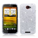 For HTC One S Cover Hard Phone Case Crystal Clear Bling Bling