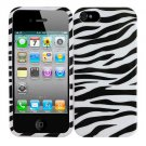 For Apple iPhone 5 / iphone5 Cover Zebra Hard Case +Screen Protector