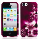 For Apple iPhone 5 / iphone5 Cover L-Flower Hard Case +Screen Protector
