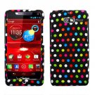 For Motorola Razr i Phone Case Colors Dot Hard Cover +Screen Protector XT890