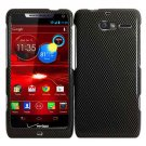 For Motorola Razr M Phone Case Carbon Fiber Hard Cover +Screen Protector XT907