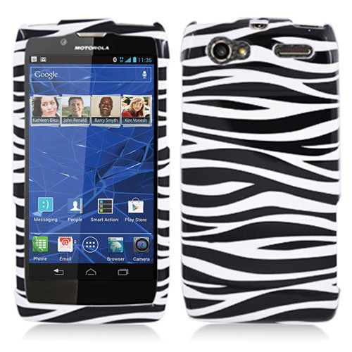 For Motorola Razr V Phone Case Zebra Hard Cover +Screen Protector XT886