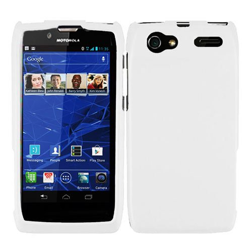 For Motorola Electrify 2 Phone Case White Hard Cover XT881