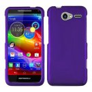 For Motorola Electrify M Phone Case Purple Hard Cover +Screen Protector XT901
