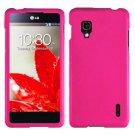Phone Case For LG Optimus G Hot Pink Hard Cover ( E971 / E973 / E975 )