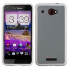 Phone Case For Verizon HTC Droid DNA 6435 Case Edge White/Frosted Clear Hard Cover