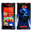 Phone Case For HTC Window Phone 8X 4G LTE Hard Case B-Skull Cover +Screen Protector
