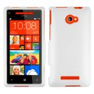 Phone Case For HTC Window Phone 8X 4G LTE Hard Case White Cover +Screen Protector