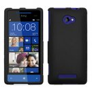 Phone Case For HTC Window Phone 8X 4G LTE Hard Case Black Phone Cover +Screen Protector