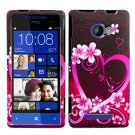 Phone Case For HTC Window Phone 8X 4G LTE Hard Case Love Cover +Screen Protector