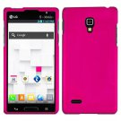 Phone case For LG Optimus L9 / P769 P768 Hard Case Hot Pink Phone Cover +Screen Protector