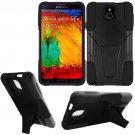 Phone Case For Samsung Galaxy Note 3 Silione Corner Black/Black Hard Cover Stand