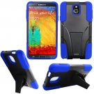 Phone Case For Samsung Galaxy Note 3 Silione Corner Blue/Black Hard Cover Stand