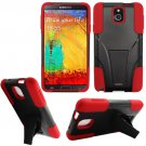 Phone Case For Samsung Galaxy Note 3 Silione Corner Red/Black Hard Cover Stand