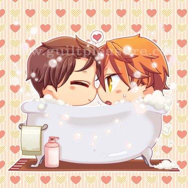 Pillow Ver 6- Bath Time with Katsu and Shino