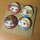 Set of 4 Q Buttons: Version B