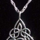 Celtic Necklace Sterling Silver Pendant on Chain CN1