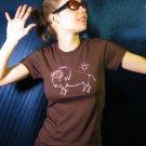 HIPnotic Buffalo of the Sun American Apparel tee (pink on chocolate)