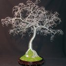 Hammered Leaves Bonsai,  Wire Tree Sculpture, by Sal Villano