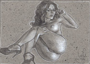 Bottoms Up - Nude Pin-up Art, LE Signed Print