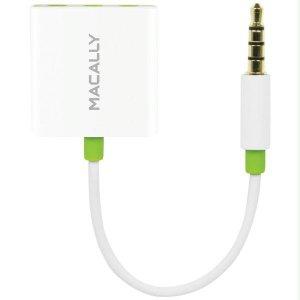 MACALLY AUDIO3 IPHONE(R)/IPOD(R)/IPAD(R) 3-WAY HEADPHONE AUDIO S