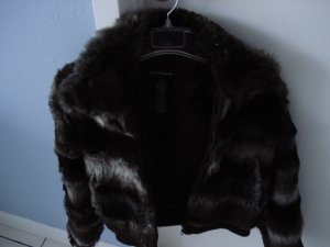Club Monaco Faux Fur Bomber Jacket