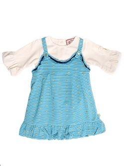 NWT-Juicy Couture Baby - Racerback Bubble Dress, Seven Seas
