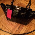 $2295 Valentino Garavani Blk Patent Leather Rockstud Mini Crossbody