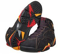 Jordan Retro 7  Blk/Citrus/Red