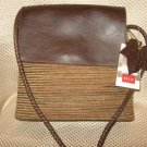 Relic Brown Leather Multi-Color Chenille Handbag Purse New