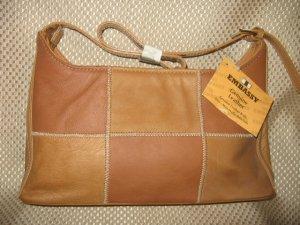 Embassy Light Brown Patchwork Design Leather Purse Handbag New