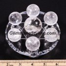 7-Star Natural Clear Rainbow Quartz Crystal Balls