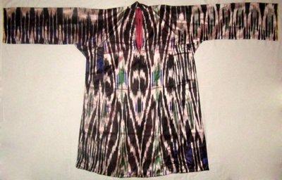 VINTAGE UZBEK ETHNIC NATURAL SILK KAFTAN DRESS