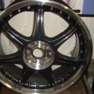 ONE NEW VICTORY V400K CARBON FINISH DRAG WHEEL RIM 18X7.5 - 5X114/120