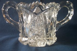 Vintage Cut glass/crystal Sugar bowl