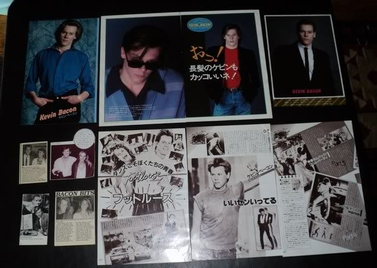 Kevin Bacon clippings #2 80s Japan Tracy Pollan FINAL!