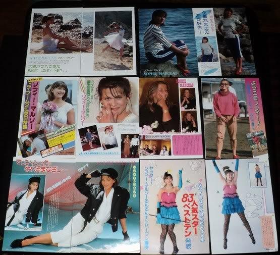 Sophie Marceau clippings pack #9 Japan 80s FINAL SALE