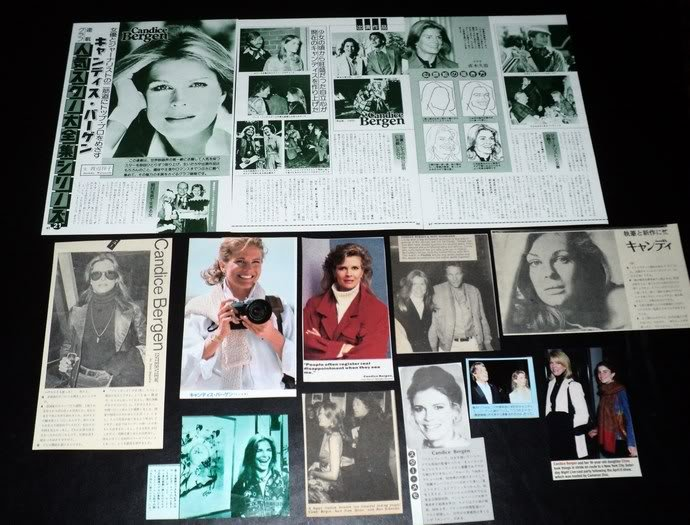 Candice Bergen clippings pack 70s Japan 80s FINAL SALE