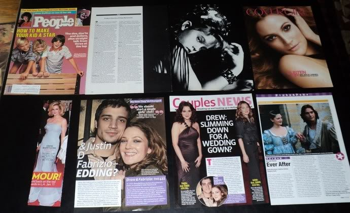 Drew Barrymore clippings pack