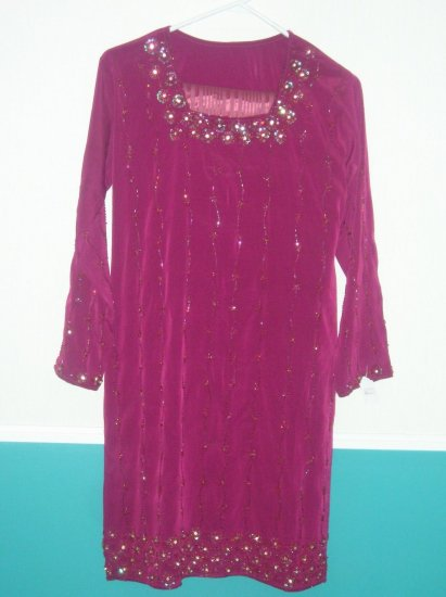 Shalwar Kameez - Maroon  Polyester